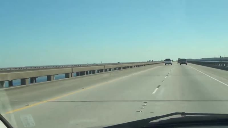 США Новые Орлеаны нереальные мосты МисиПиси