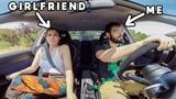 EPIC Girlfriend Reaction To 330hp SUBARU IMPREZA WRX STI - INSANE DRIVING - FR Exhaust