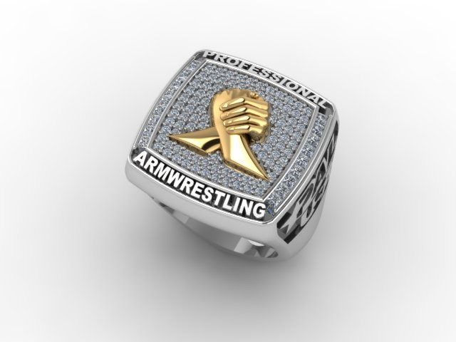 The $50,000 PAL USA Ring for the winner of the 2014 Armwrestling show - Top 16 │Image Source: Igor Mazurenko
