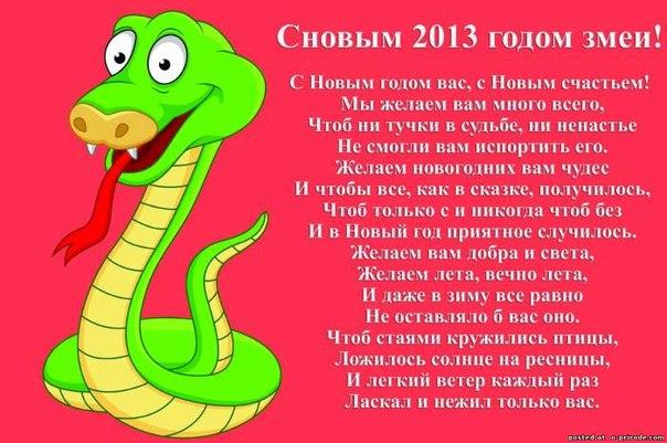 Поздравление змеи змее