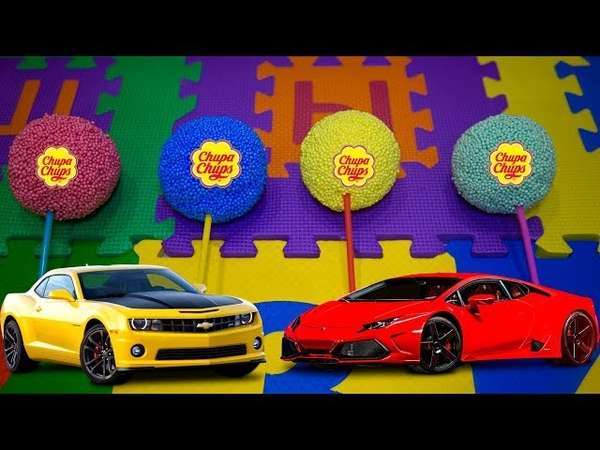 Чупа чупс сюрприз, машины Хот вилс или Chupa Chups surprise, car Hot wheels