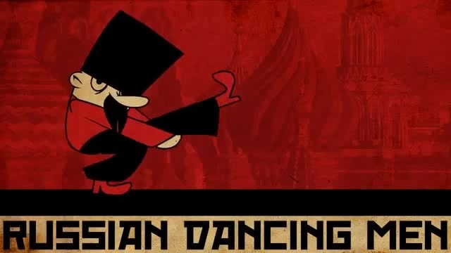 Russian Dancing Men : animated music video : MrWeebl