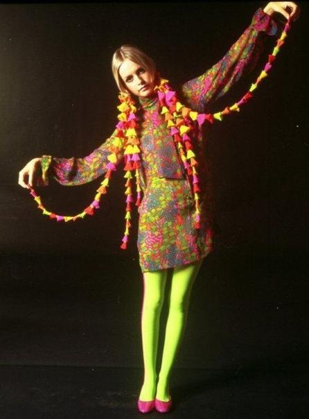 Подборка фото Лесли Лоусон в стиле Твигги.