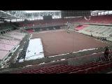 Съемка стадиона «Открытие Арена». 4 апреля 2014 года