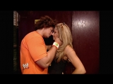 Raw 08.28.2006 Randy Orton harshly attacked kissing Carlito and Trish Stratus