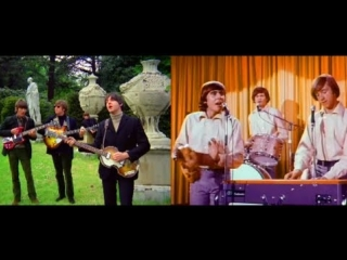 The Beatles 'Paperback Writer' vs The Monkees 'I'm A Believer' (HD)