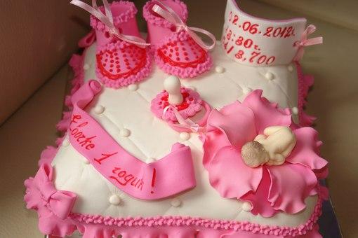 Тортики для девочек на один годик фото