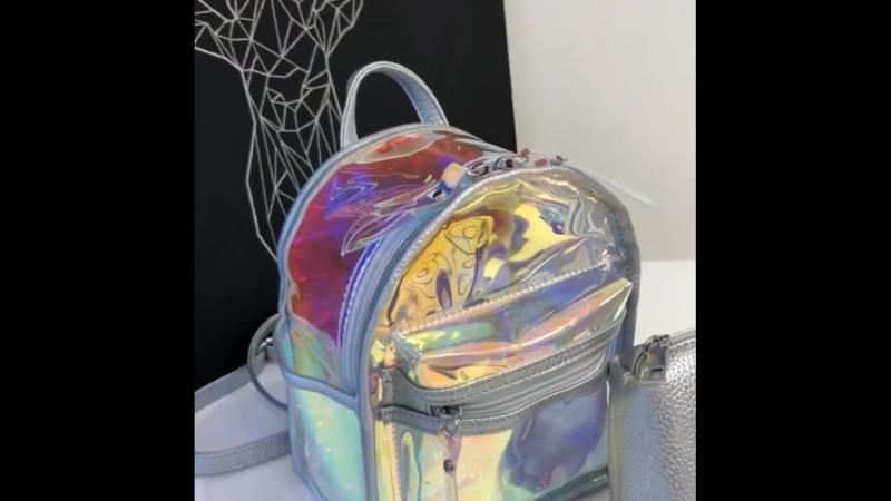 Мини-лазерный голографический рюкзак для девочки-подростка