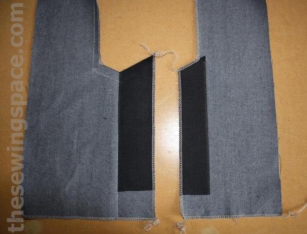 Обработка шлиц на юбке без подкладки