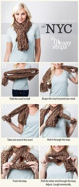 Как красиво и оригинально повязать шарф платок… (10 фото) - картинка