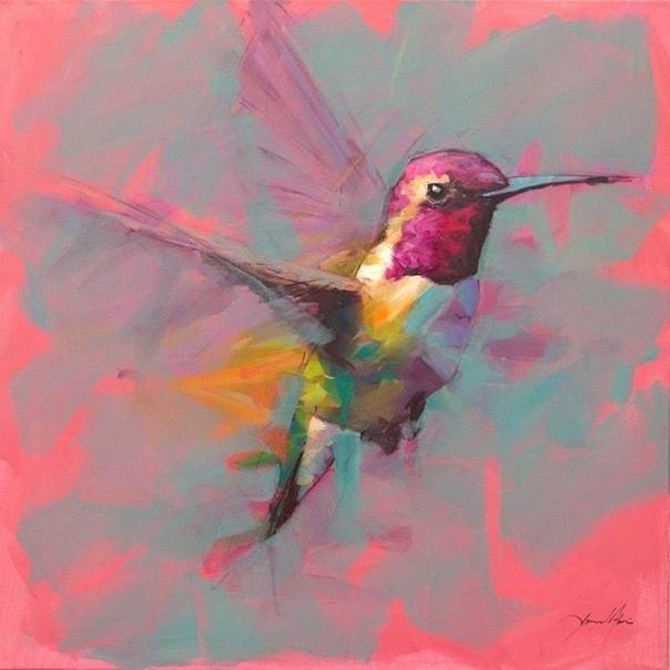 Запечатлеть птицу в полете с помощью камеры довольно сложно, но британскому художнику Джамелю Акибу удается сделать это с помощью масляных красок От колибри до очаровательных синиц каждая его