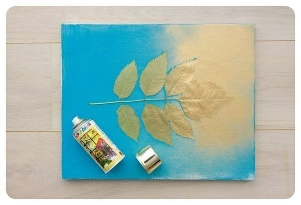 Картина своими руками. Из высушенных листьев…. (3 фото) - картинка