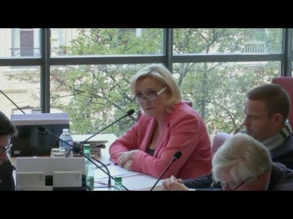 Marine Le Pen défend la francophonie en Commission des Affaires étrangères