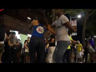 Suzana y Giordano Cuban Salsa Street Event @ Orchard Rd 7Feb15