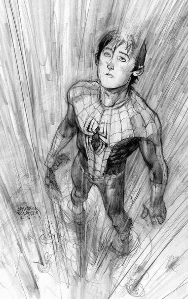 рисунки человека паука: