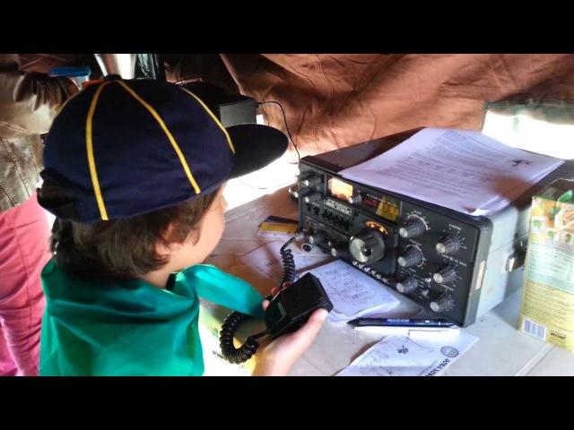 JOTA 2013 - Lobinho conversando no rádio