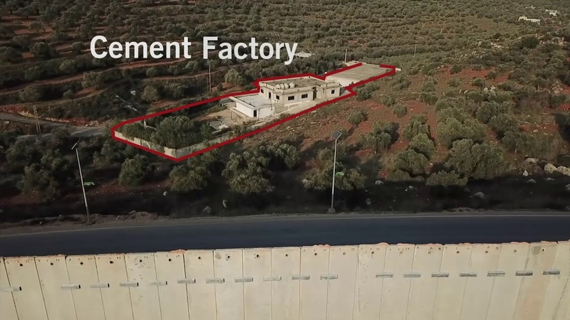 Transformation of cement factory in southern Kafr Kela into a digging site for attack tunnel