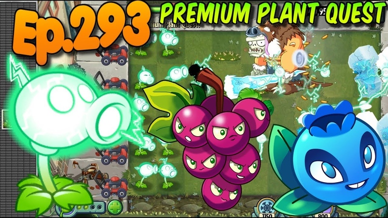 Plants vs. Zombies 2 - Premium Quest - Electric Peashooter, Grapeshot, Electric Blueberry (Ep.293)