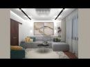 Проект двухкомнатной квартиры в современном стиле Modern style design