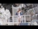 Alessandra Ambrosio doing a photoshoot at Eden Rox hotel in Antibes