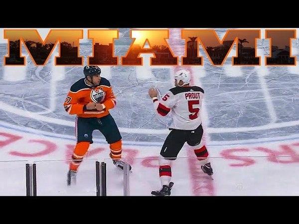 Хоккей по американски. Матч НХЛ. Флорида Пантерз - Каролина Харрикейнз. Майами. США [2018] 30