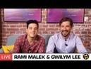 Interview of Rami Malek and Gwilym Lee in SensaCine - Transmission on Facebook LIVE