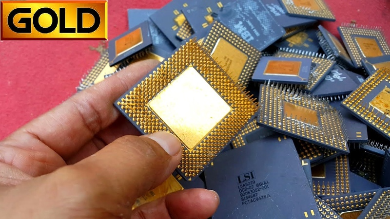 Where does gold come from | recovery electronic circuit boards CPU Computer scrap good gold price 💰