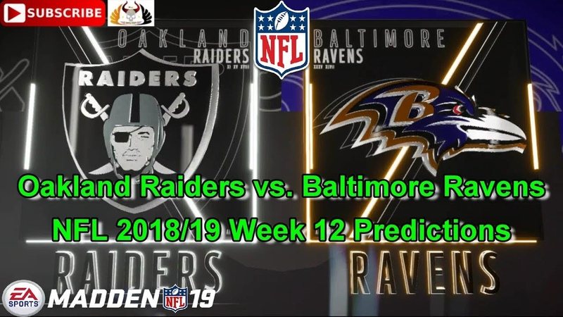 Oakland Raiders vs. Baltimore Ravens | NFL 2018-19 Week 12 | Predictions Madden NFL 19