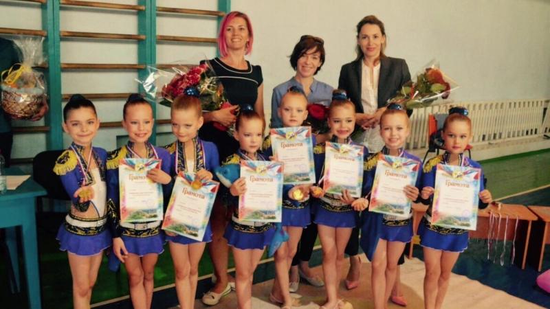 Команда Афалина 1 место в категории 6-8 лет по эстетической гимнастике в первенстве г.Севастополя 04/05/2018
