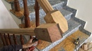 Amazing Woodworking Project For Wooden Stairs PART 2 How To Make Curved Railing For Wood Stairs