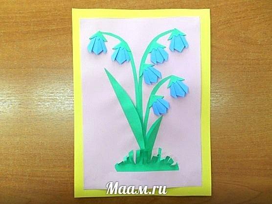 18 ПОШАГОВЫХ ФОТОГРАФИЙ. Колокольчики-оригами. Мастер-класс для дошкольников от воспитателя из Лобни… (1 фото) - картинка