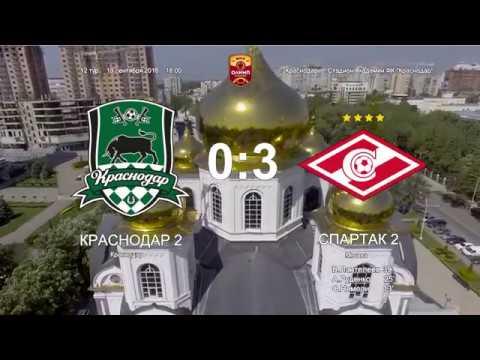 Краснодар-2 - Спартак-2 0:3 Обзор матча Чемпионата ФНЛ 2018/2019. 12-й тур.