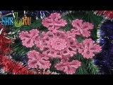 Вязание снежинки Урок 2 часть 2 из 2 Элемент вязанный крючком