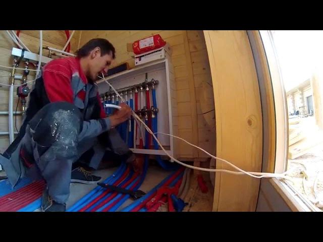 Отопление в бревенчатом доме. Работаем с металлопластом.