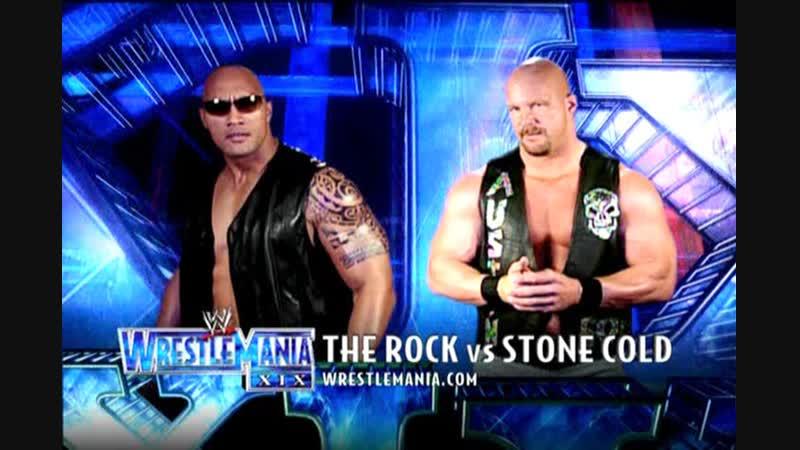 WWE Mania WrestleMania XIX The Rock vs Stone Cold Steve Austin