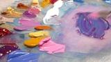 Palette Knife Oil Paint Colour Mixing on Glass - ASMR - 20th of September, 2018