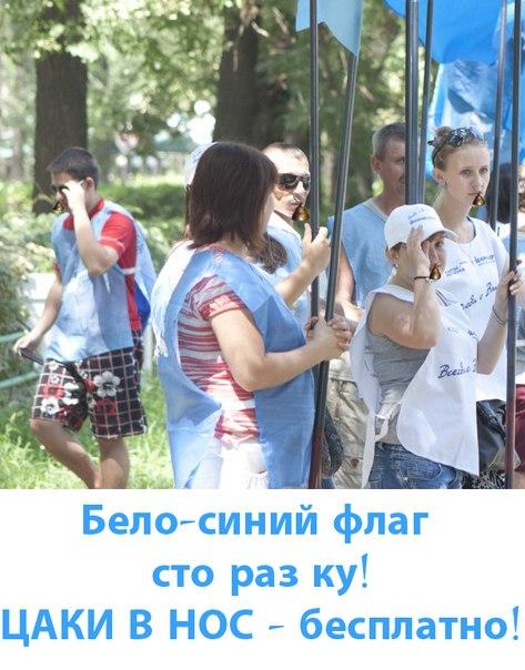 """Голубой """"прогиб"""" перед Януковичем: деревья в лентах и памятник в тунике от ПР - Цензор.НЕТ 9115"""