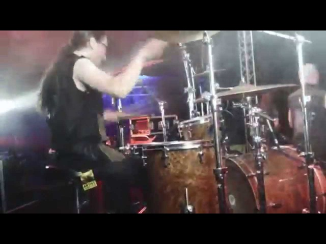 Ken Bedene - Aborted drum cam 2 - live on MetalDays 2014