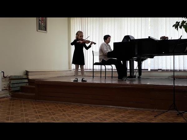 Сарабанда и жига Корелли. Данкля вариации на тему Пачини. Зинченко Александра 7 лет.