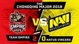 NAVI vs EMPIRE.HOPE (0:2) - CHONGQING MAJOR DOTA 2