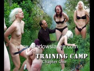 Shadowslaves - training camp 1, bdsm, bondage, electro torture, punishment, spanking, whipping, wax, toys, orgasm, blowjob