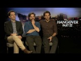 The Wolfpack - Ed Helms, Zach Galifianakis and Bradley Cooper - talk about The Hangover 3