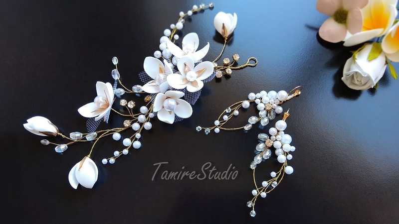 ✨TamireStudio✨DIY EARRINGS✨HOW TO MAKE A HAIR ORNAMENT OUT OF BEADS AND WIRE WITH YOUR OWN HANDS✨