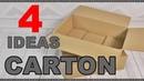 4 Ideas con cartón. Manualidades reciclando cartón. Recopilatorio de cartonaje