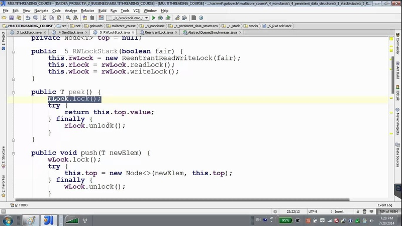 GolovachCourses: Java Multithreading 28.07.2014 Lecture 13. Multithreading stack. Persistancy.