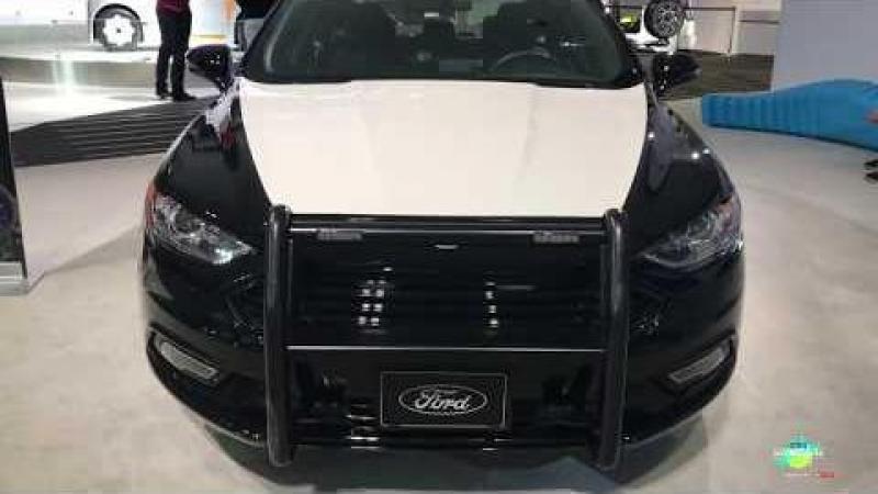 2018 Ford Fusion Police Vehicle Exterior Walkaround LA Auto Show
