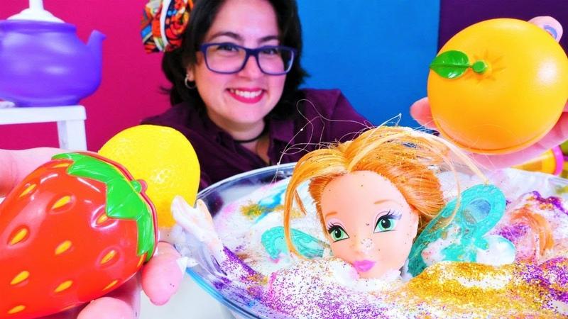 Winx Oyuncakları. Peri Flora sihir gücünü yenilemek için SPA - banyosu yapıyor!