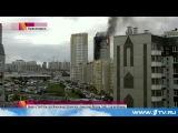 В центре Красноярска горит жилой дом