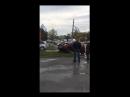 Матиз протаранил забор, Омск (21.09.2018)