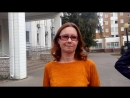 Анна Нефёдова после суда за якобы организацию массового пикета 7 октября 2017